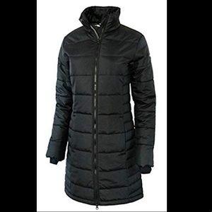 Columbia Women's Long Omni Heat Puffer Coat Black